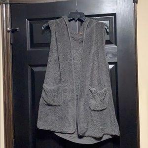 Dark Grey Soft Hooded Vest